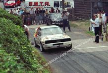 Audi Sport Quattro Group B. Dai Llewellyn. Shelsley Walsh Hillclimb July 1989. Photo